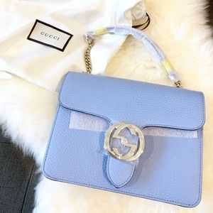 Gucci Interlocking Shoulder bag blue